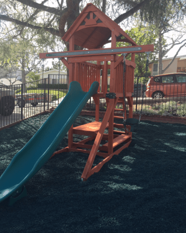 Playground Grade Rubber Mulch Available in Five Colors.